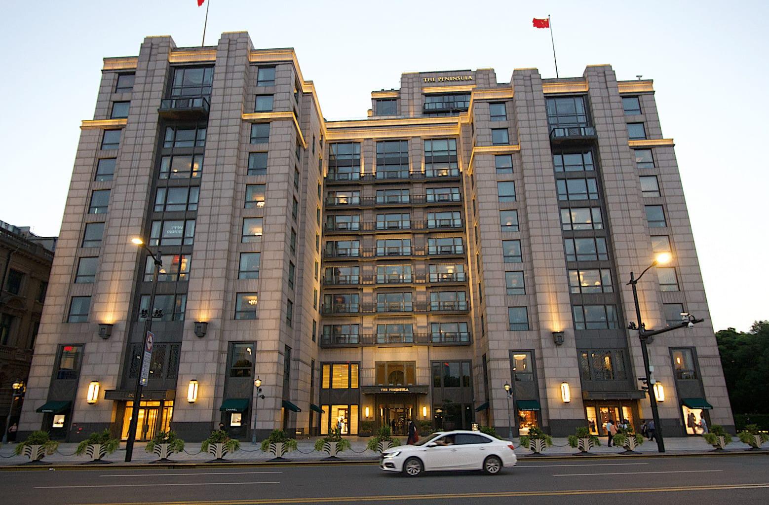 The facade of The Peninsula Shanghai