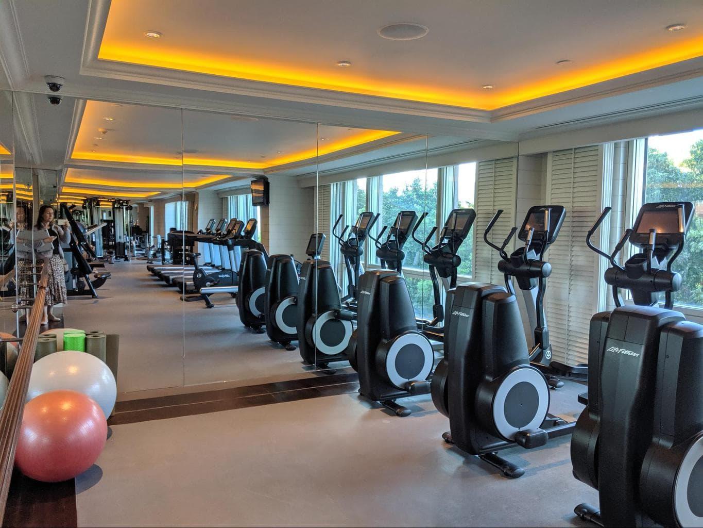 The gym at The Peninsula Shanghai