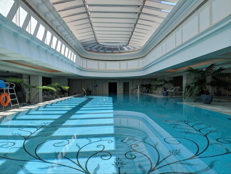 The large pool at The Peninsula Shanghai
