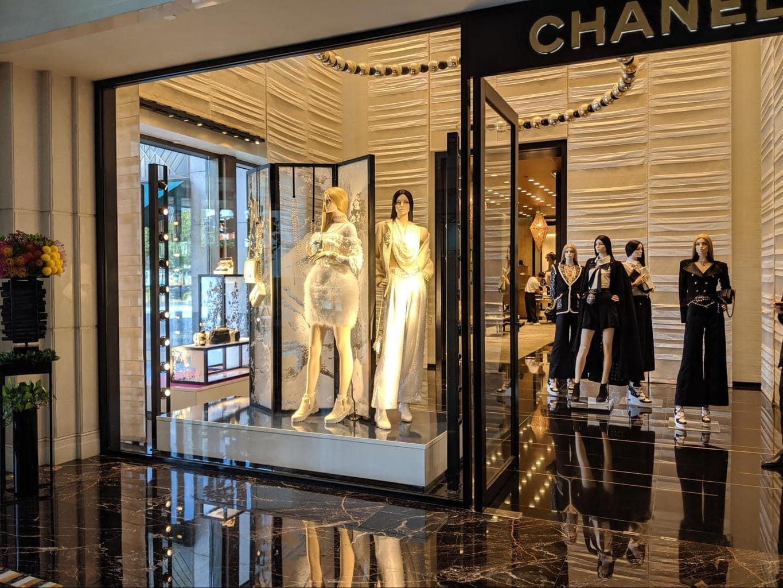 The shopping galleria at The Peninsula Shanghai