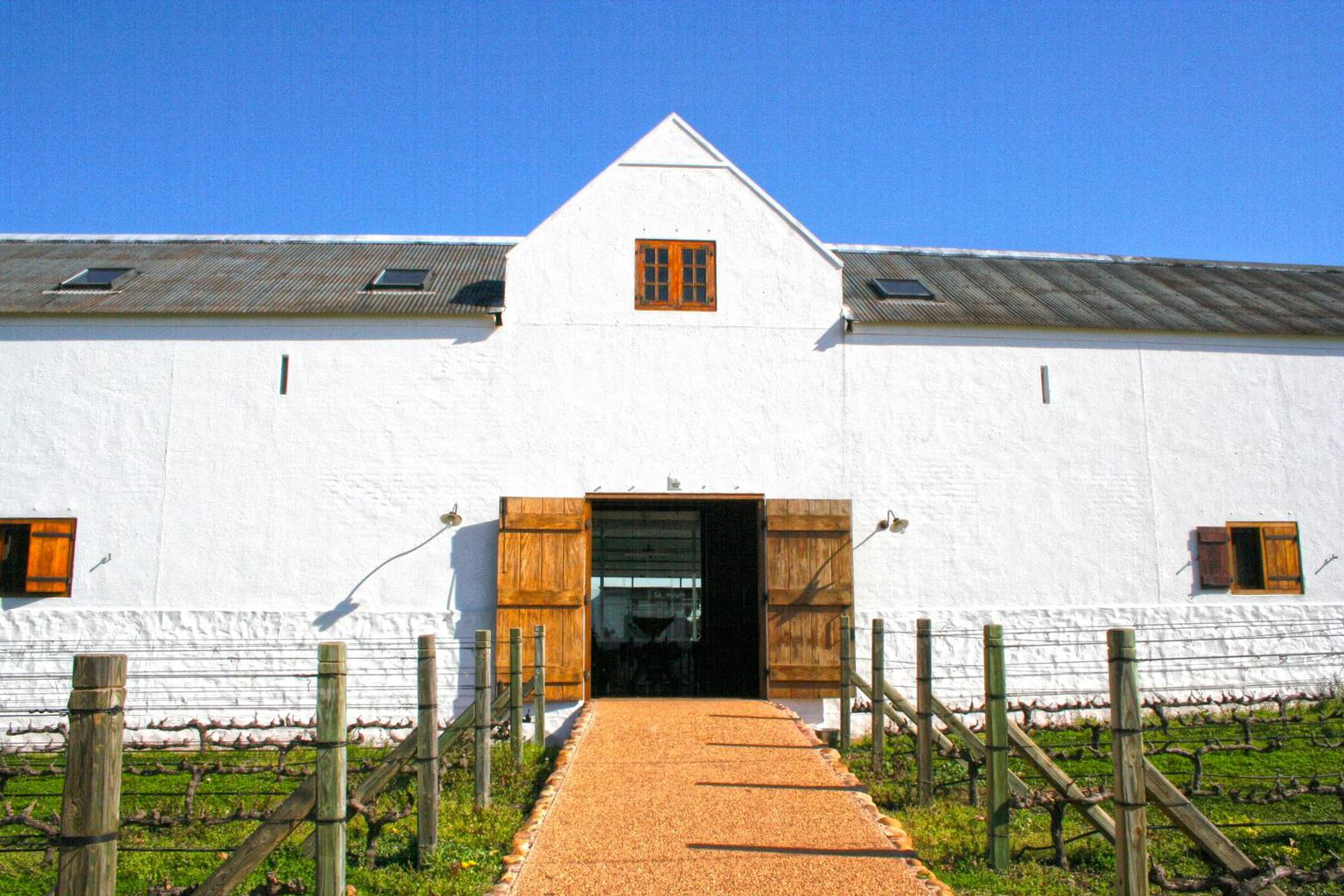The tasting room entrance at Babylonstoren