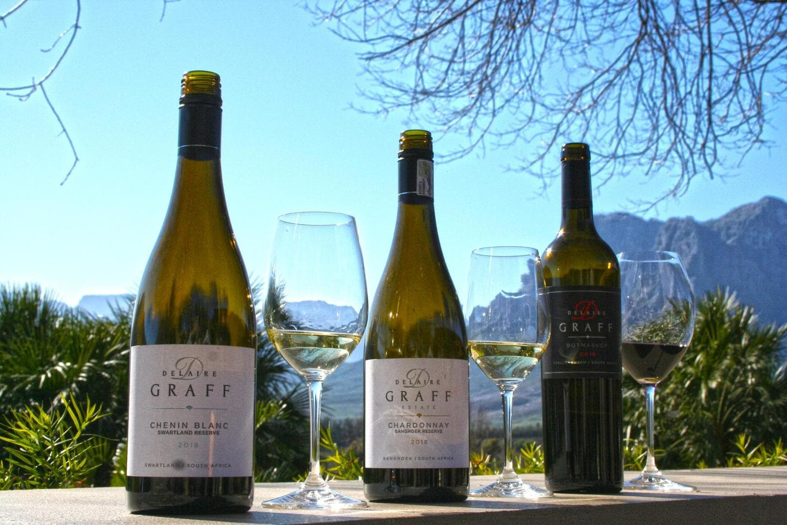 Three wines at Delaire Graff