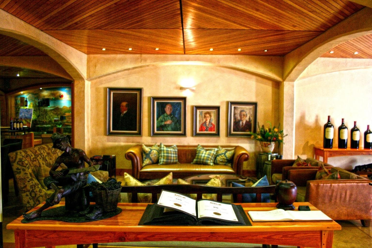 Wine tasting room and gallery at Kanonkop