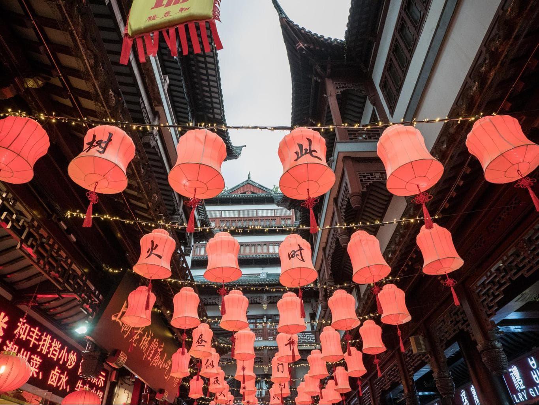 Yuyuan Gardens lanterns