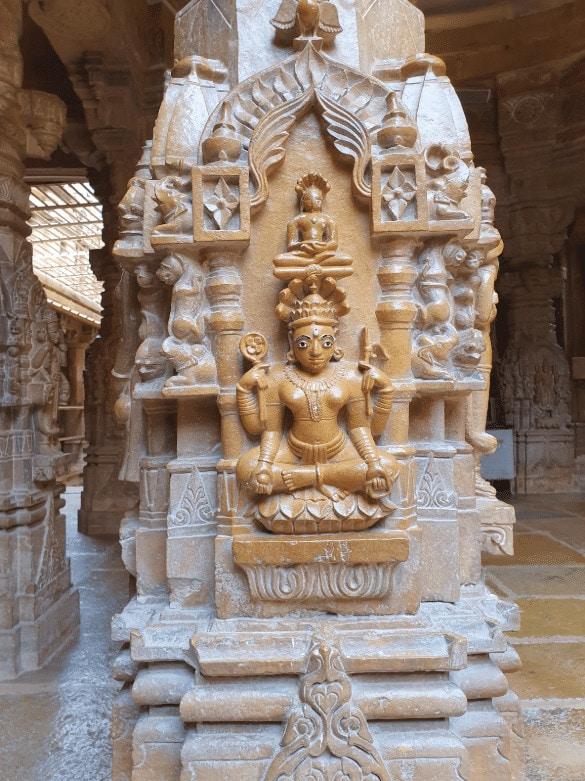 Beautiful carvings at Jaisalmer's Jain Temples
