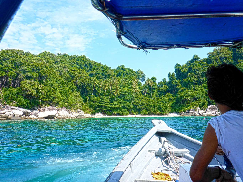 Boating trip in Tioman