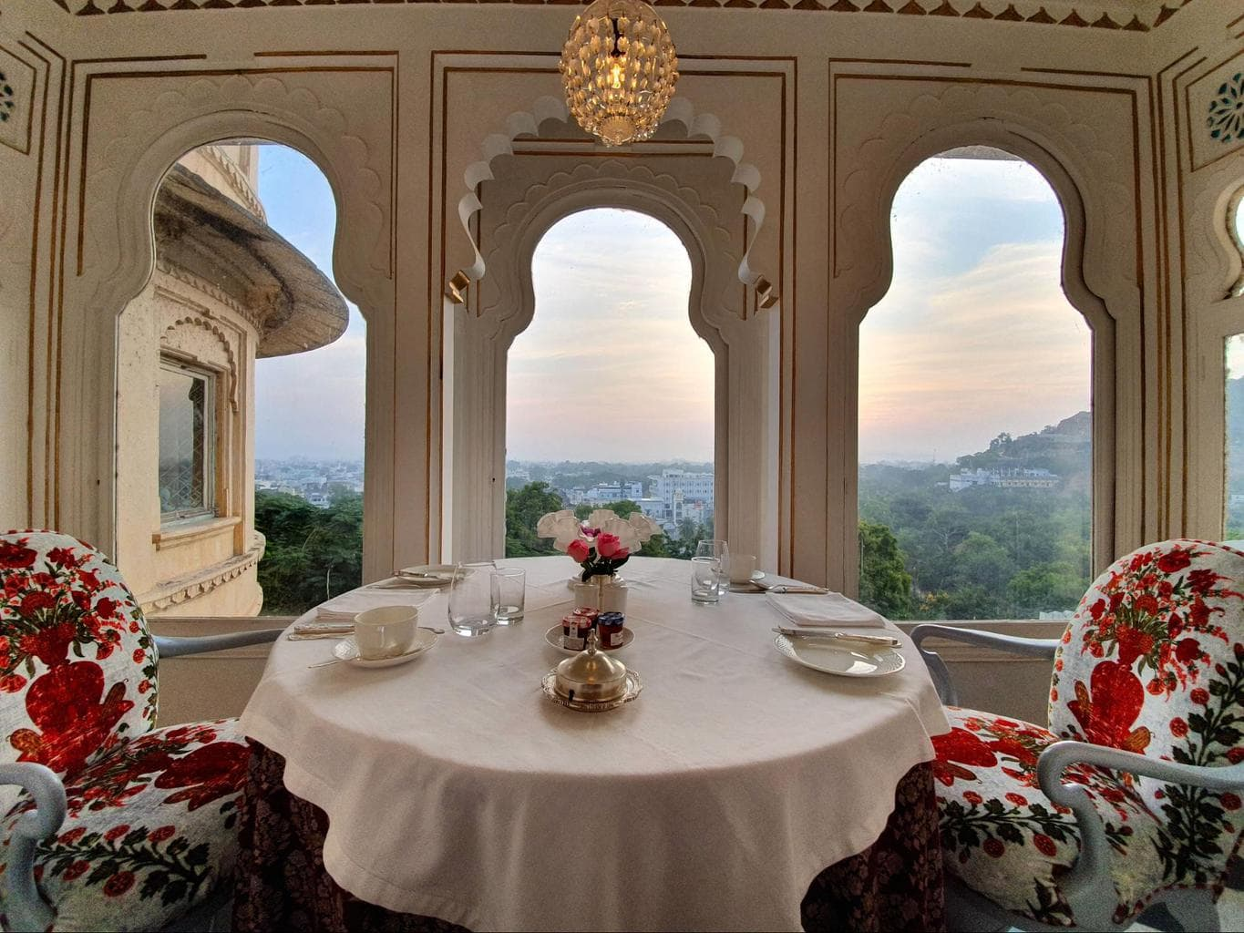 Breakfast views from Shiv Niwas Palace