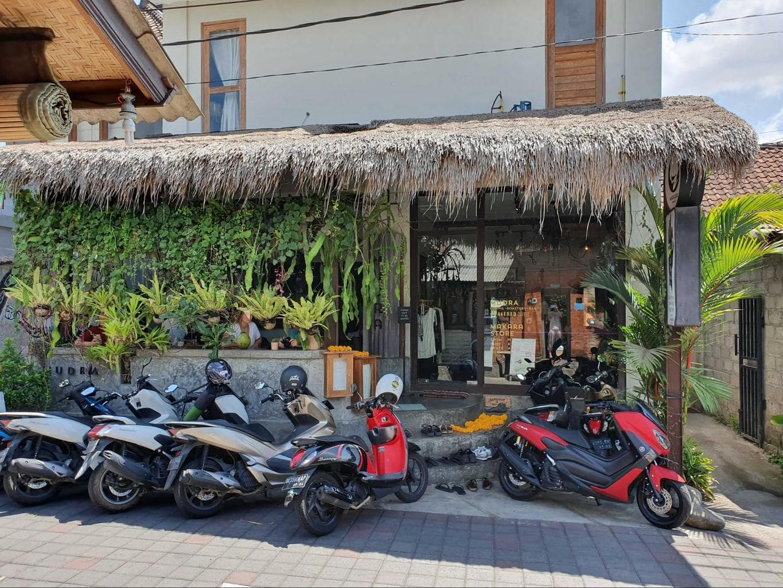 Exterior to Mudra cafe in Ubud