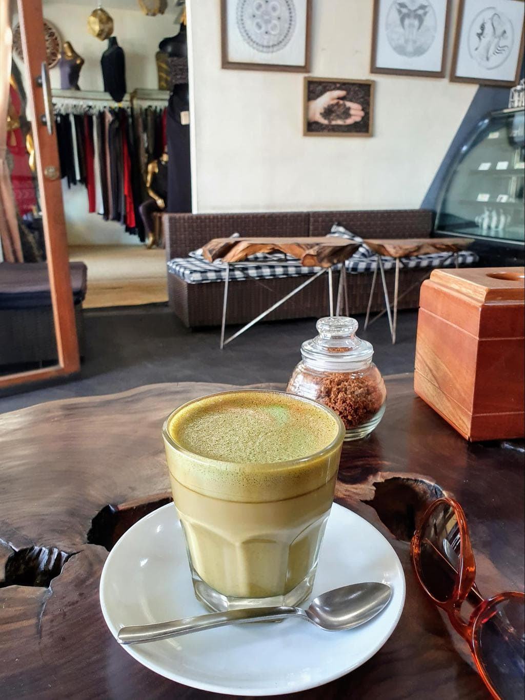 F.R.E.A.K. Coffee matcha latte