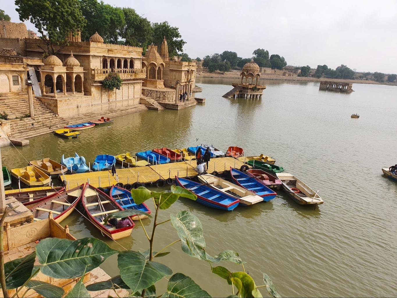 Gadisar Lake chhatris and boating