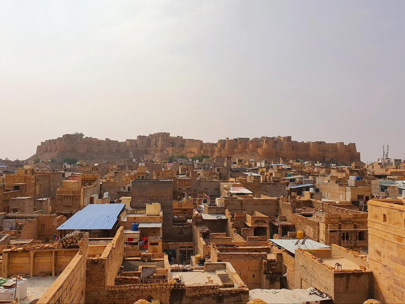Jaisalmer Fort as seen from Patwon Ki Haveli