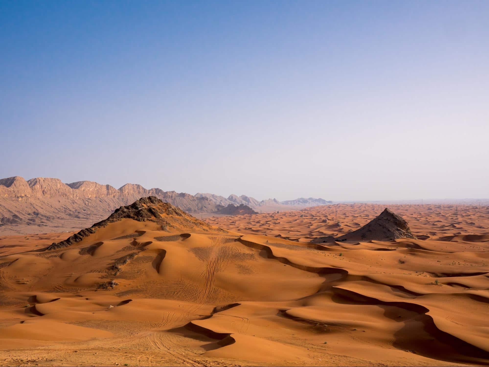 Mleiha archeological site and desert