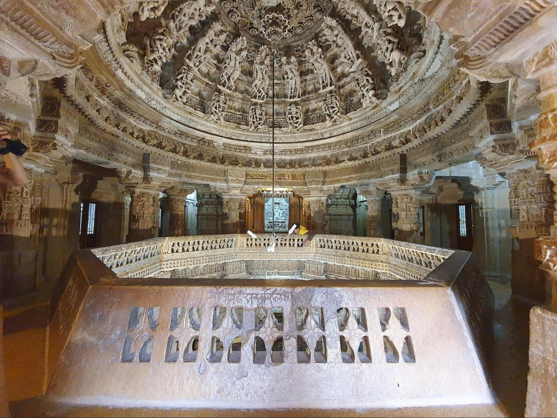 Rikhabdev Temple dome
