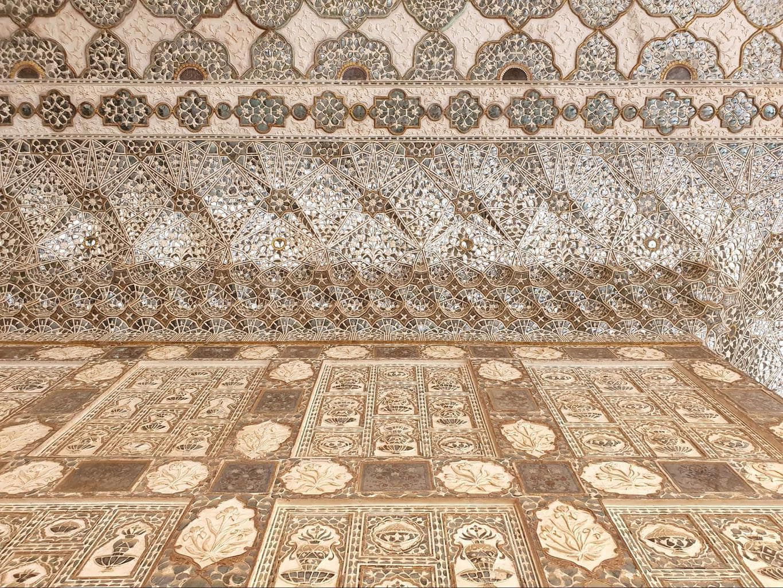 Sheesh Mahal at Amer Fort patterns