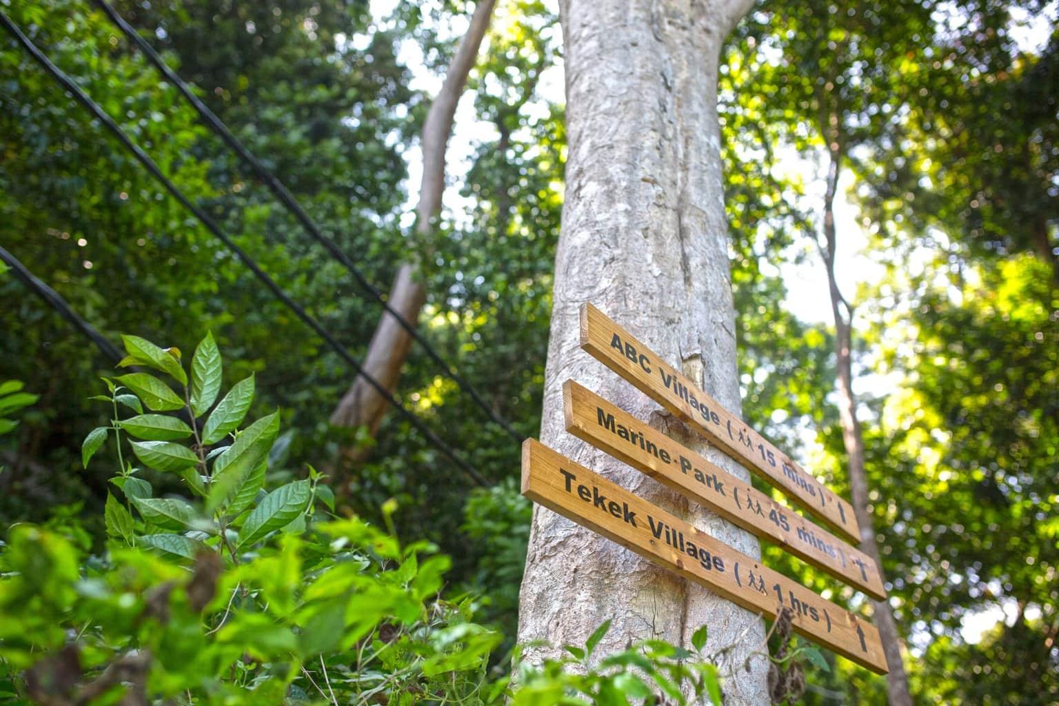 Signs at Tioman Island
