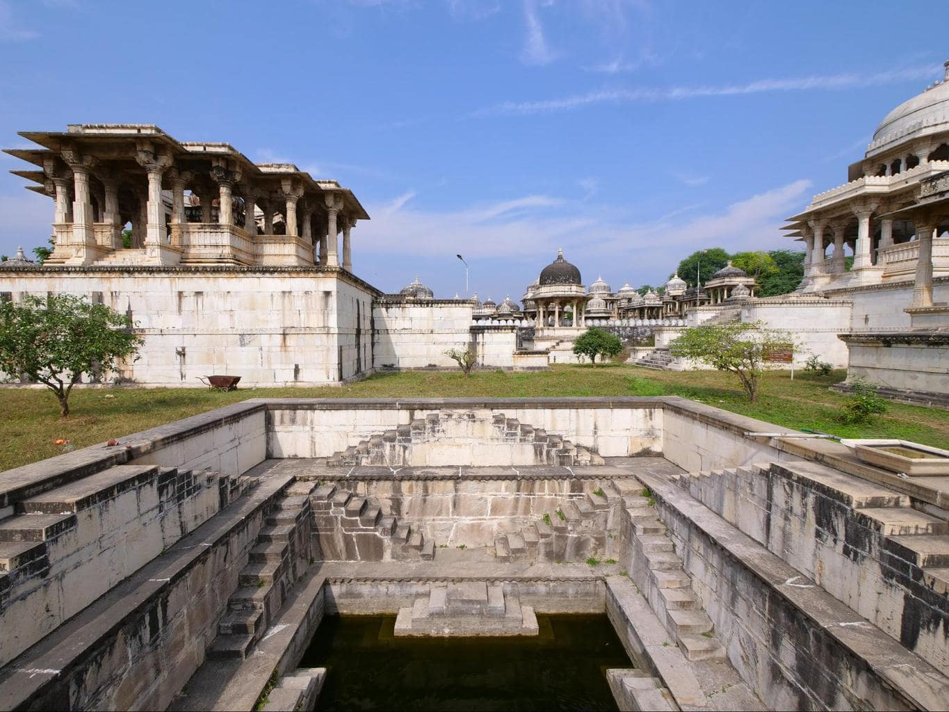 Stepwell among the cenotaphs at Ahar