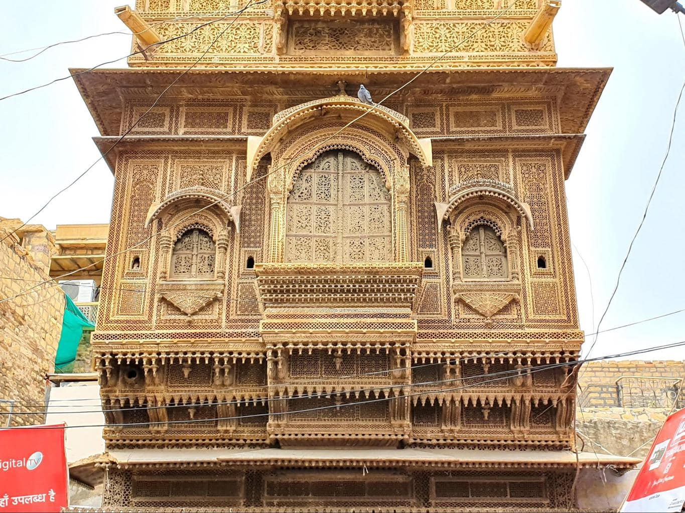 The beautiful facades of Jaisalmer Fort
