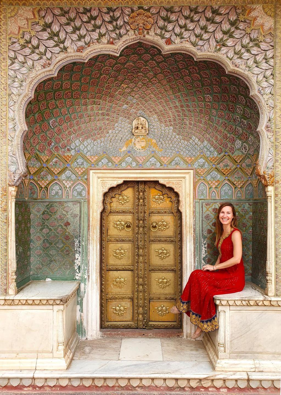 The beautiful gates at Jaipur's City palace 03