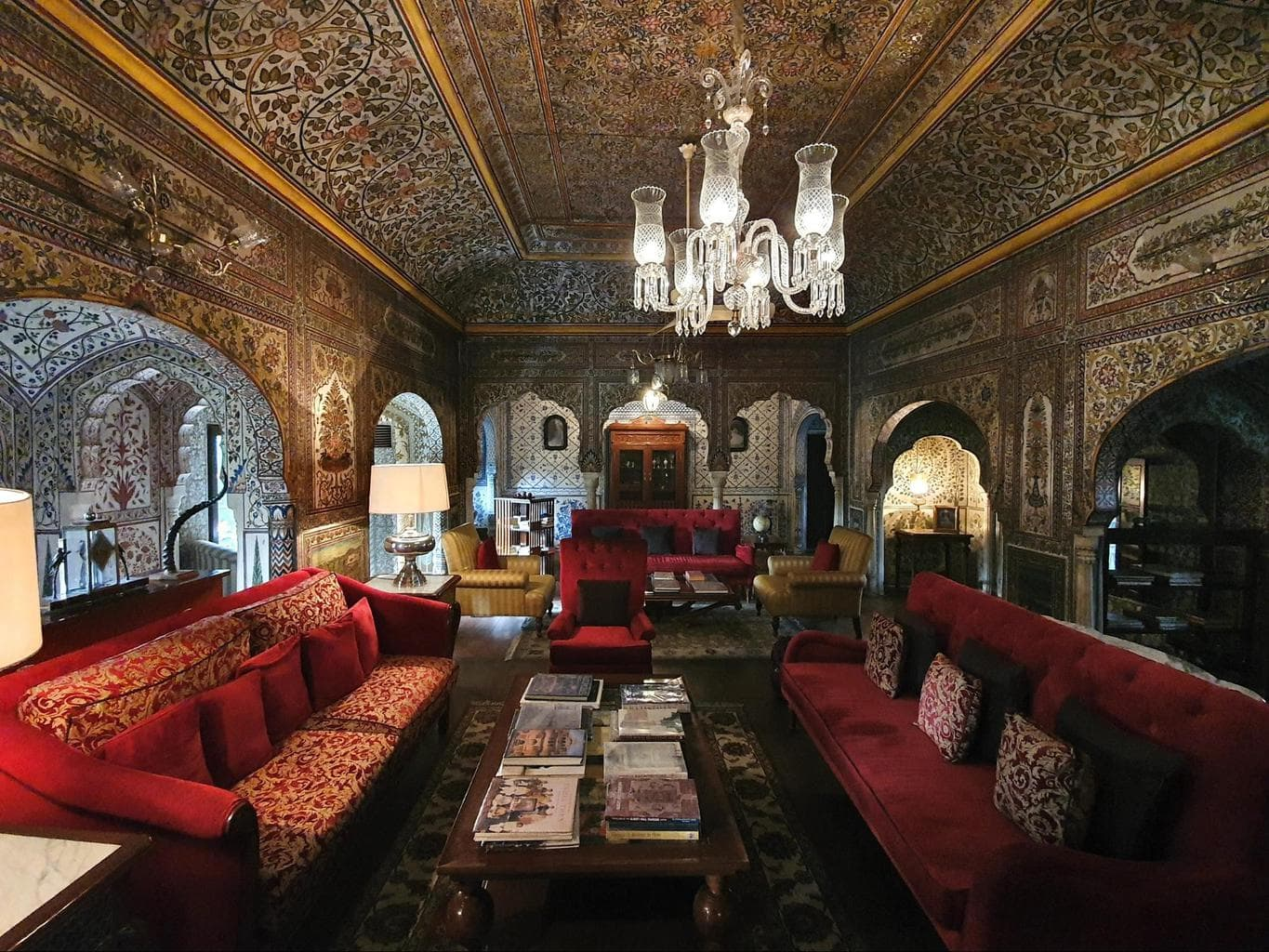 The interiors of Samode Haveli