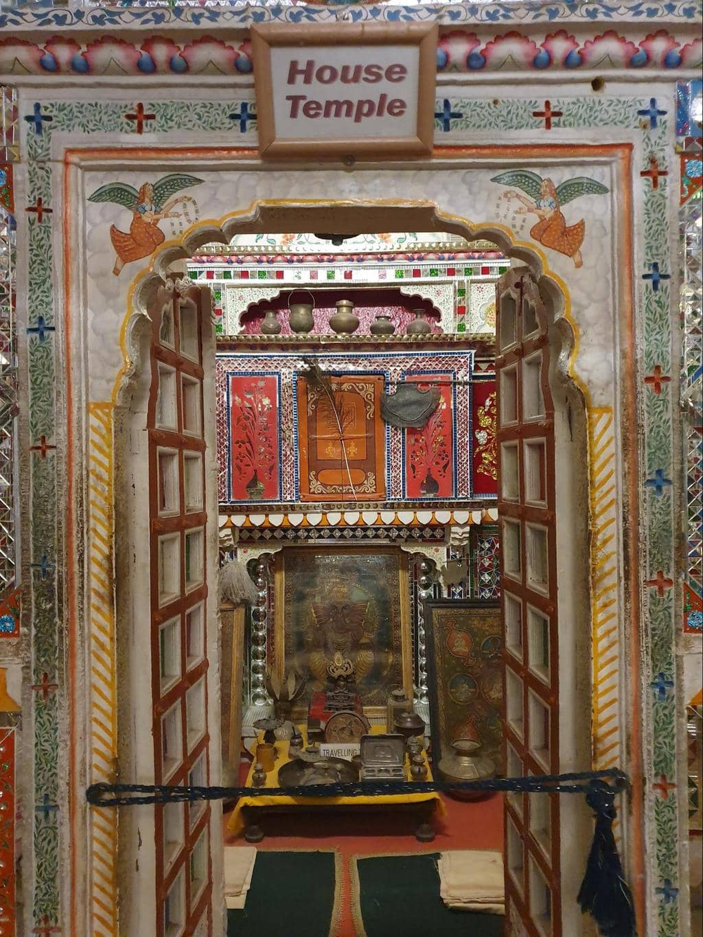 The intricate interiors of Patwon Ki Haveli House Temple