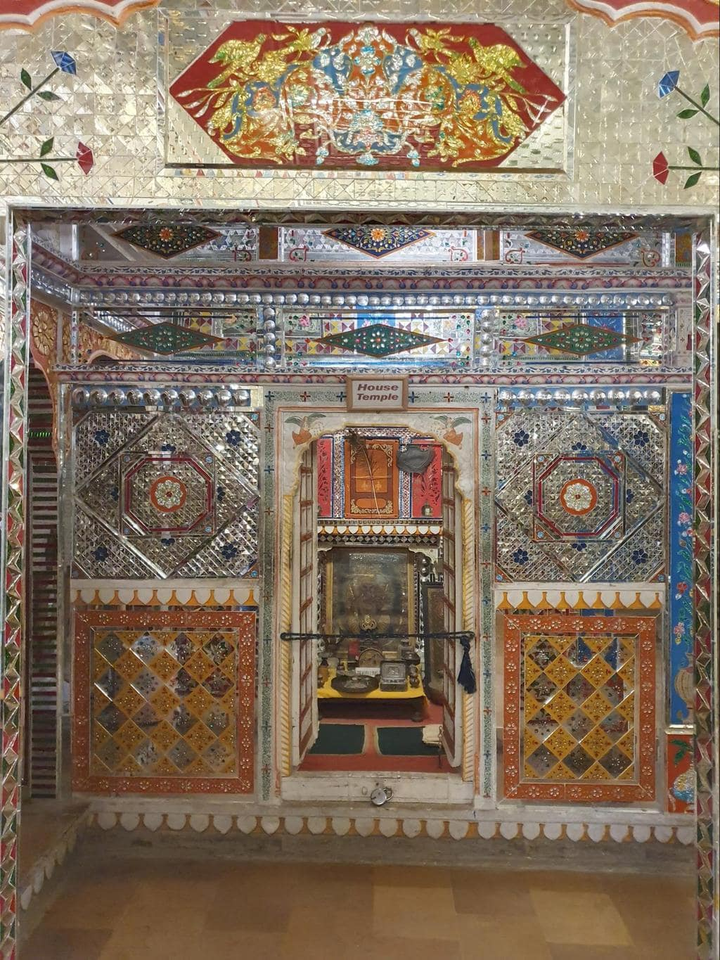 The intricate interiors of Patwon Ki Haveli Temple