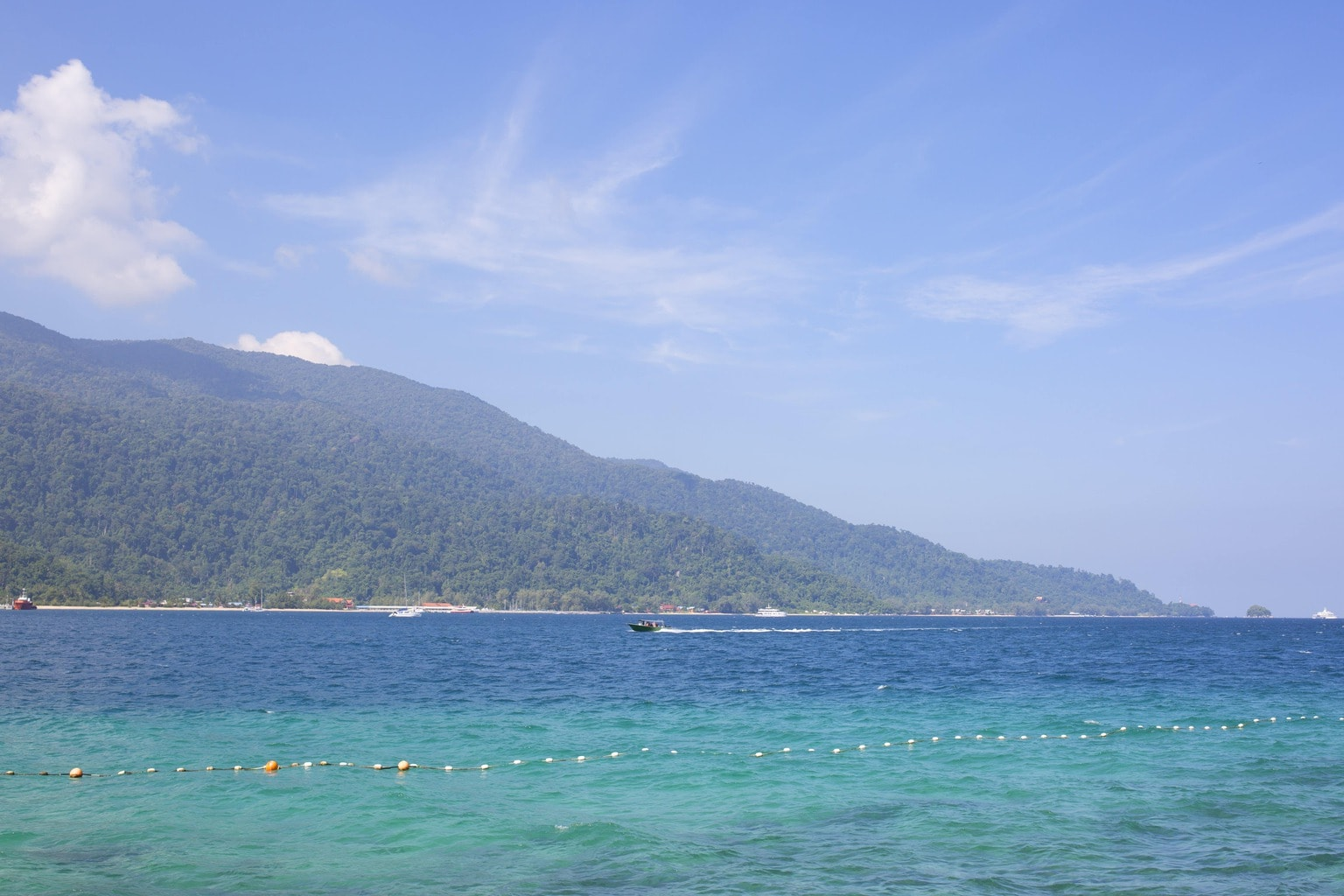 Tioman Island from the ocean