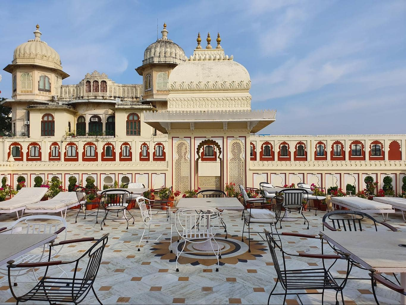 Upper terrace at Shiv Niwas Palace
