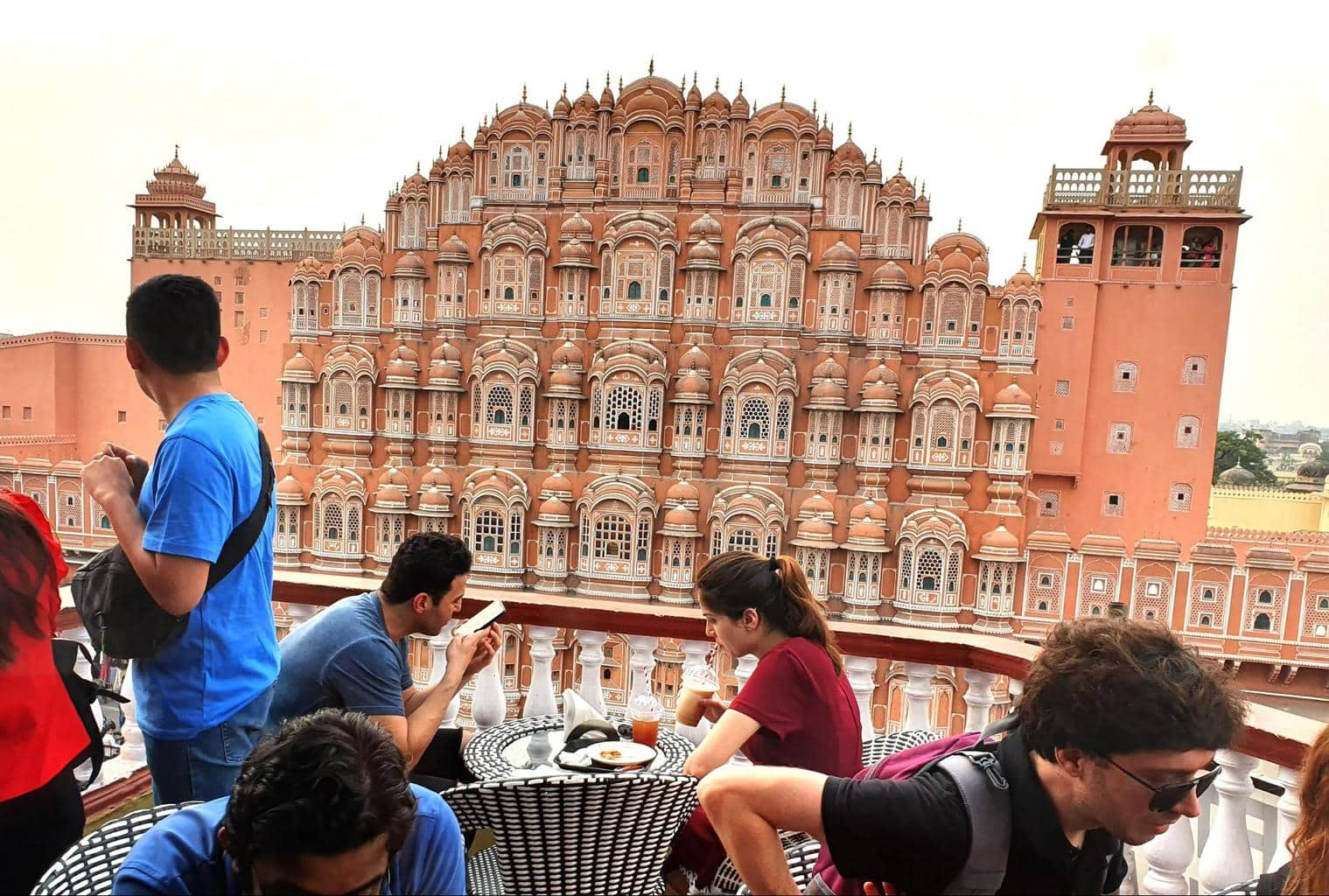 View of Hawa Mahal from Wind View Cafe in Jaipur
