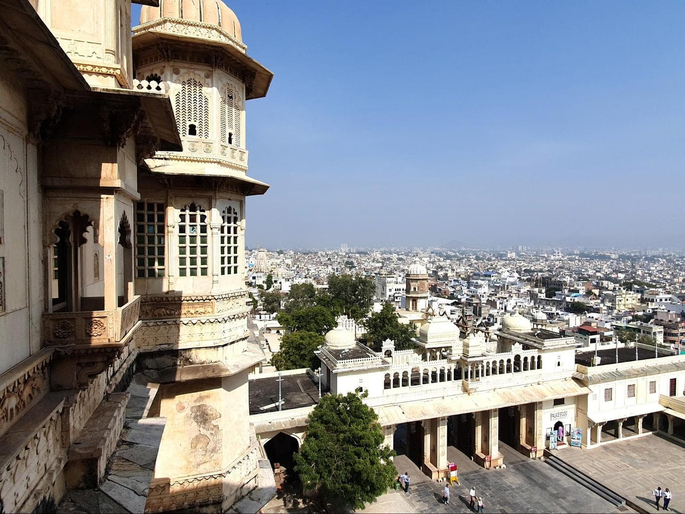 Views of Udaipur from the City Palace