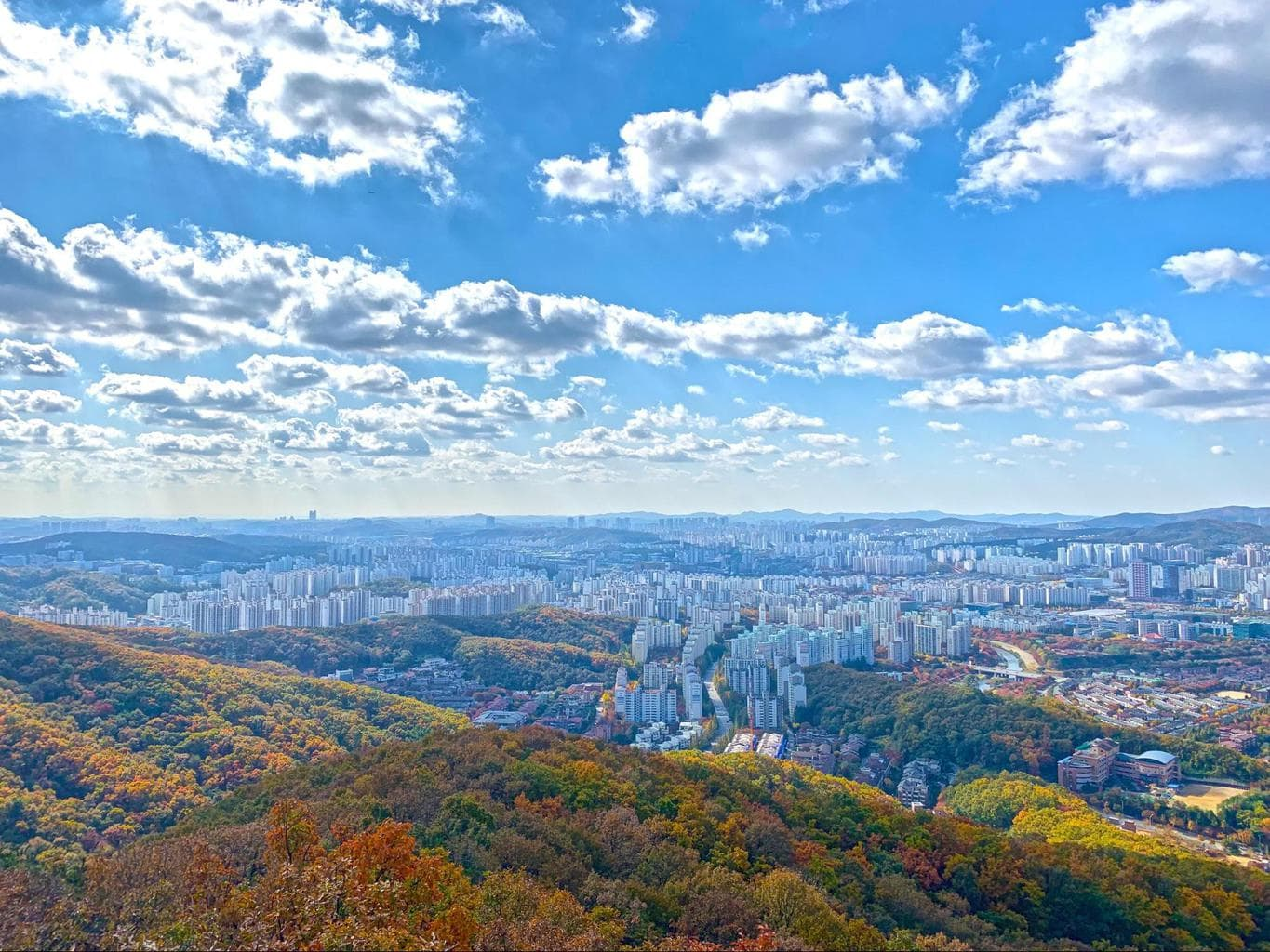 Mountain views in Korea