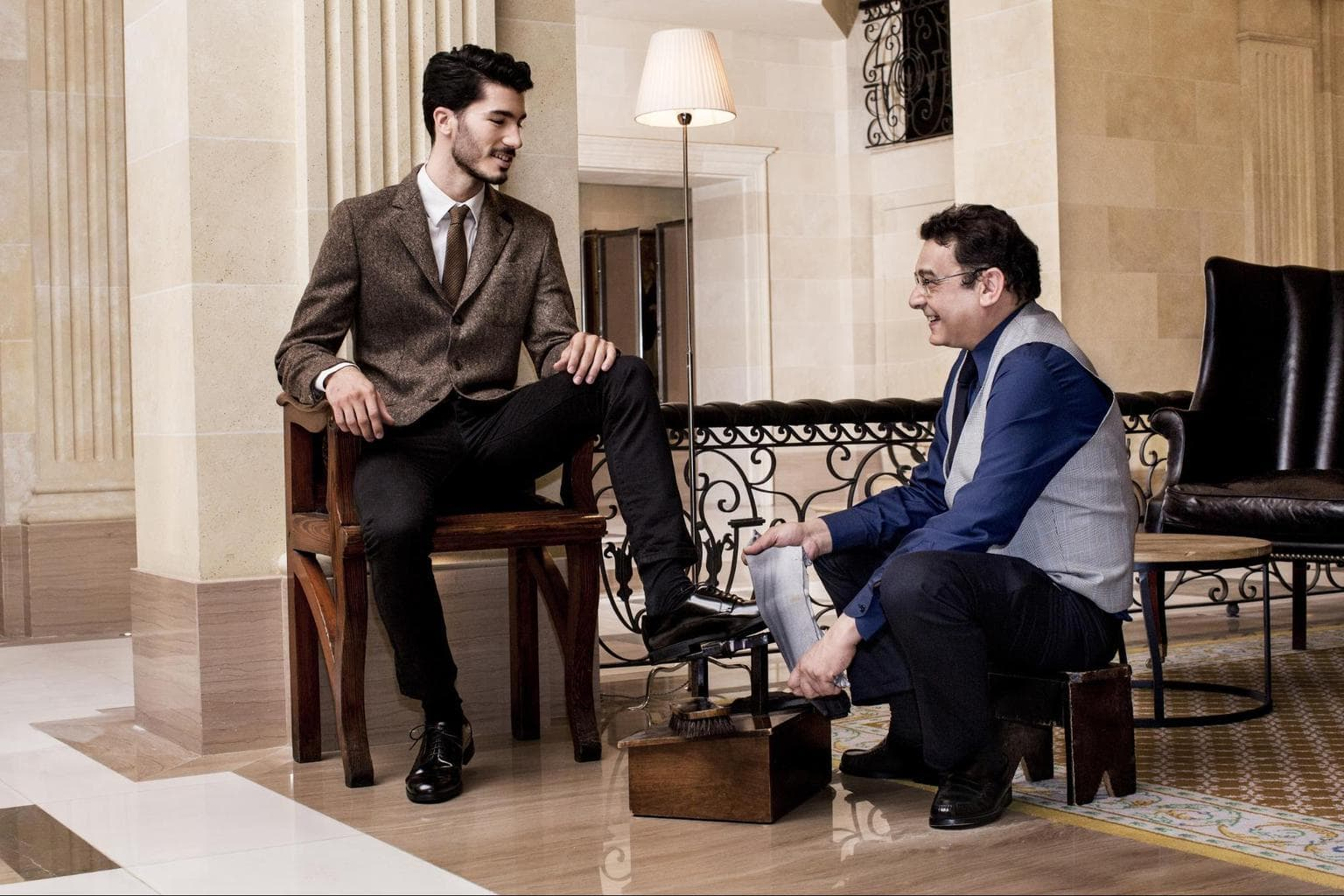 Shoe shine at Majestic Hotel & Spa Barcelona