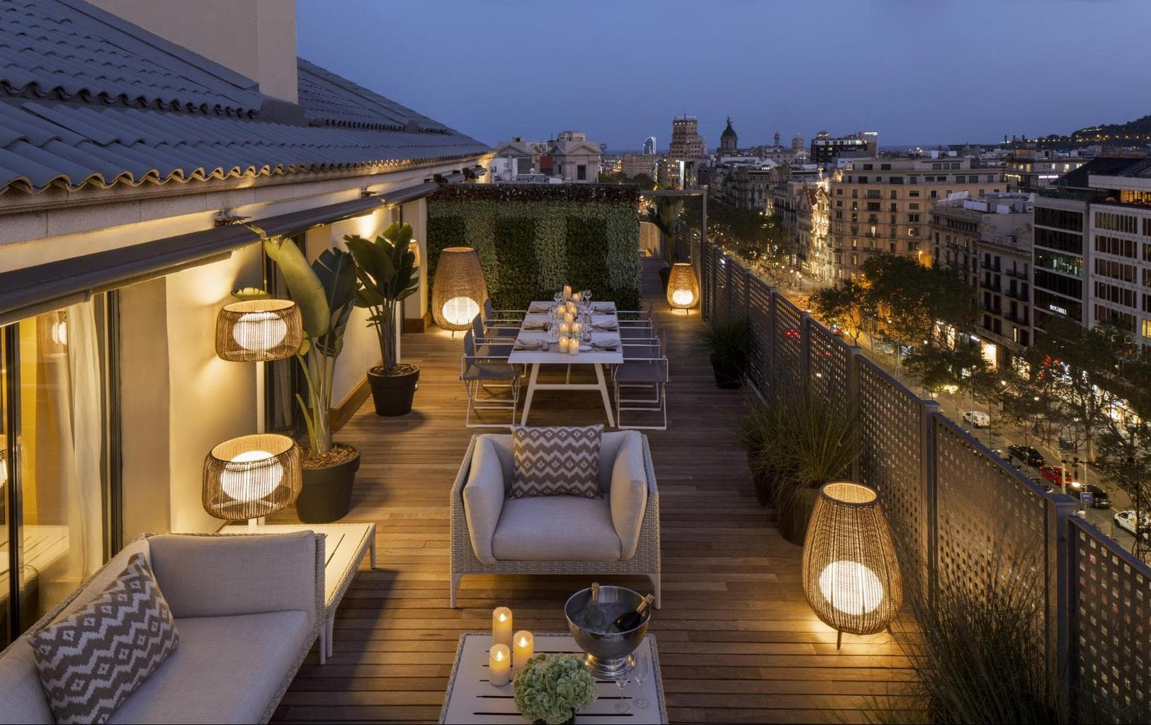 The Royal Majestic Penthouse terrace