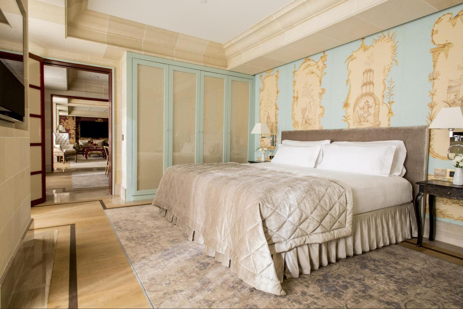 The Royal Penthouse bed at Majestic Hotel & Spa Barcelona