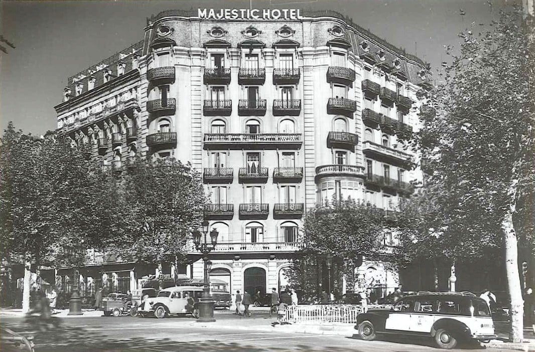 The old facade at Majestic Hotel & Spa Barcelona