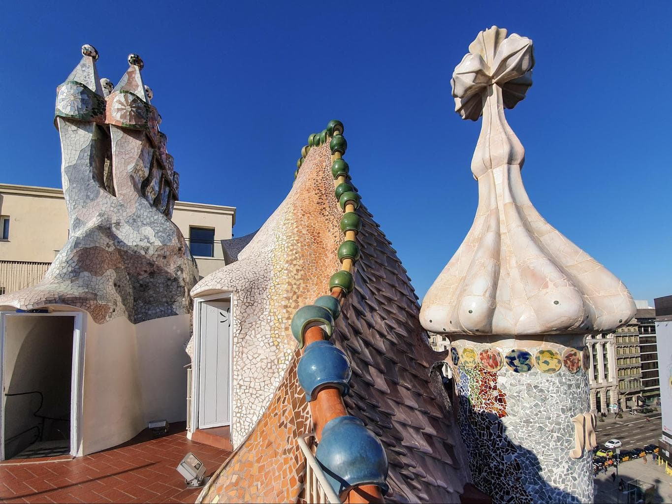 The rooftop of Casa Batllo