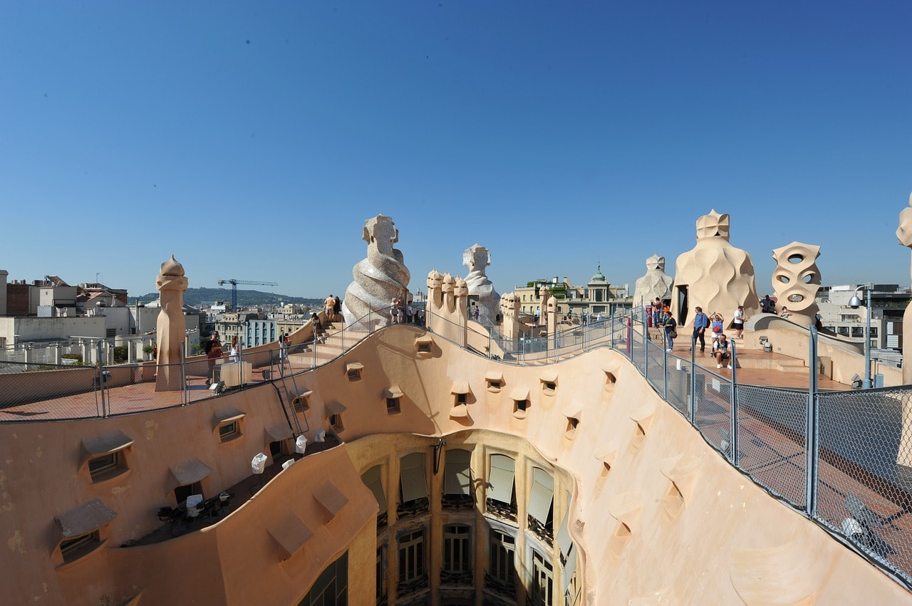 The rooftop of Casa Mila: La Pedrera