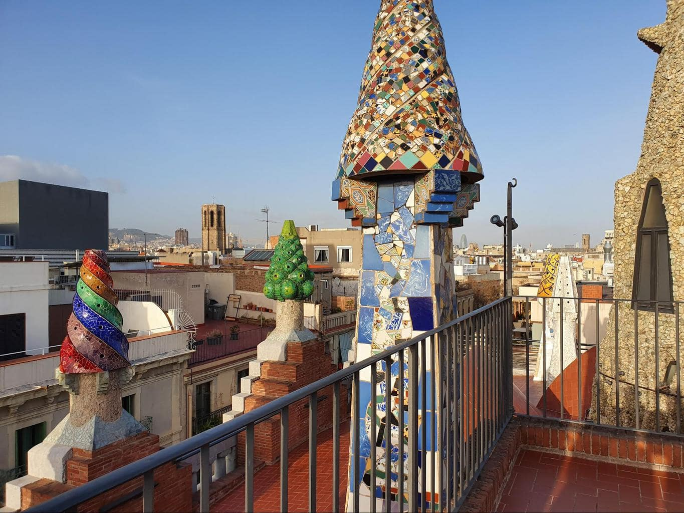 The rooftop of Palau Guell