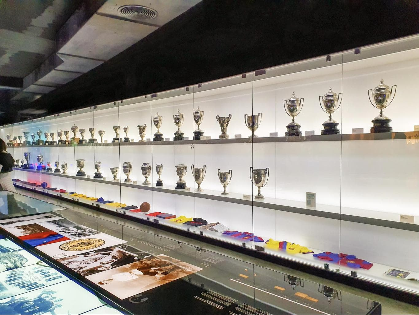 Barça's trophies at the Camp Nou Museum