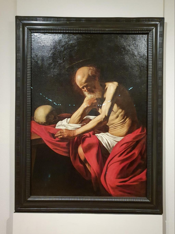 Caravaggio's painting at Montserrat Museum