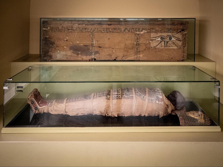 Egyptian mummy at the Montserrat Museum