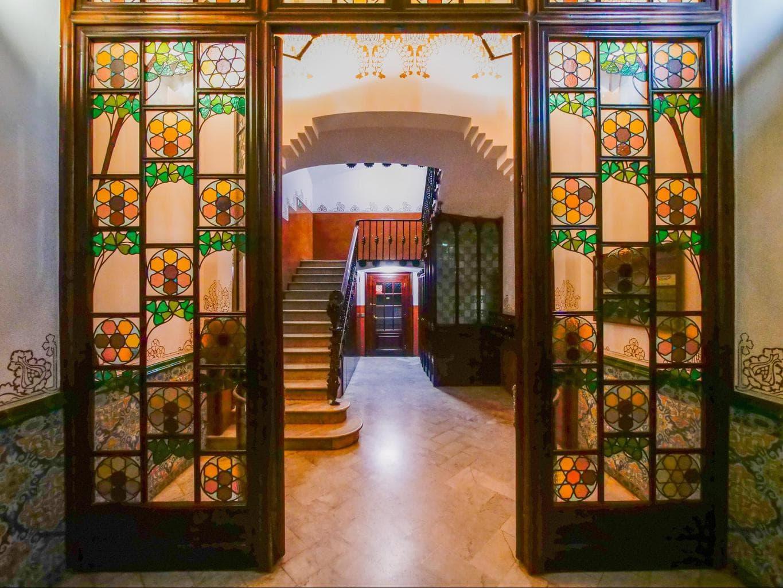 Entrance to La Casa de les Punxes