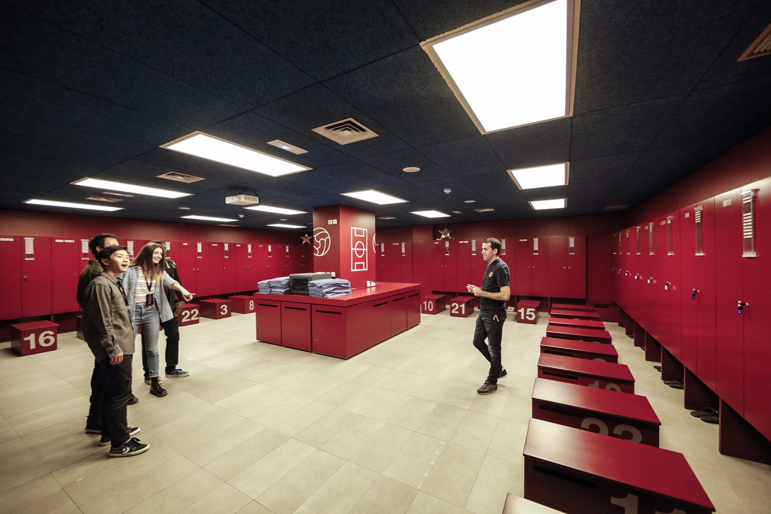 FC Barcelona changing rooms
