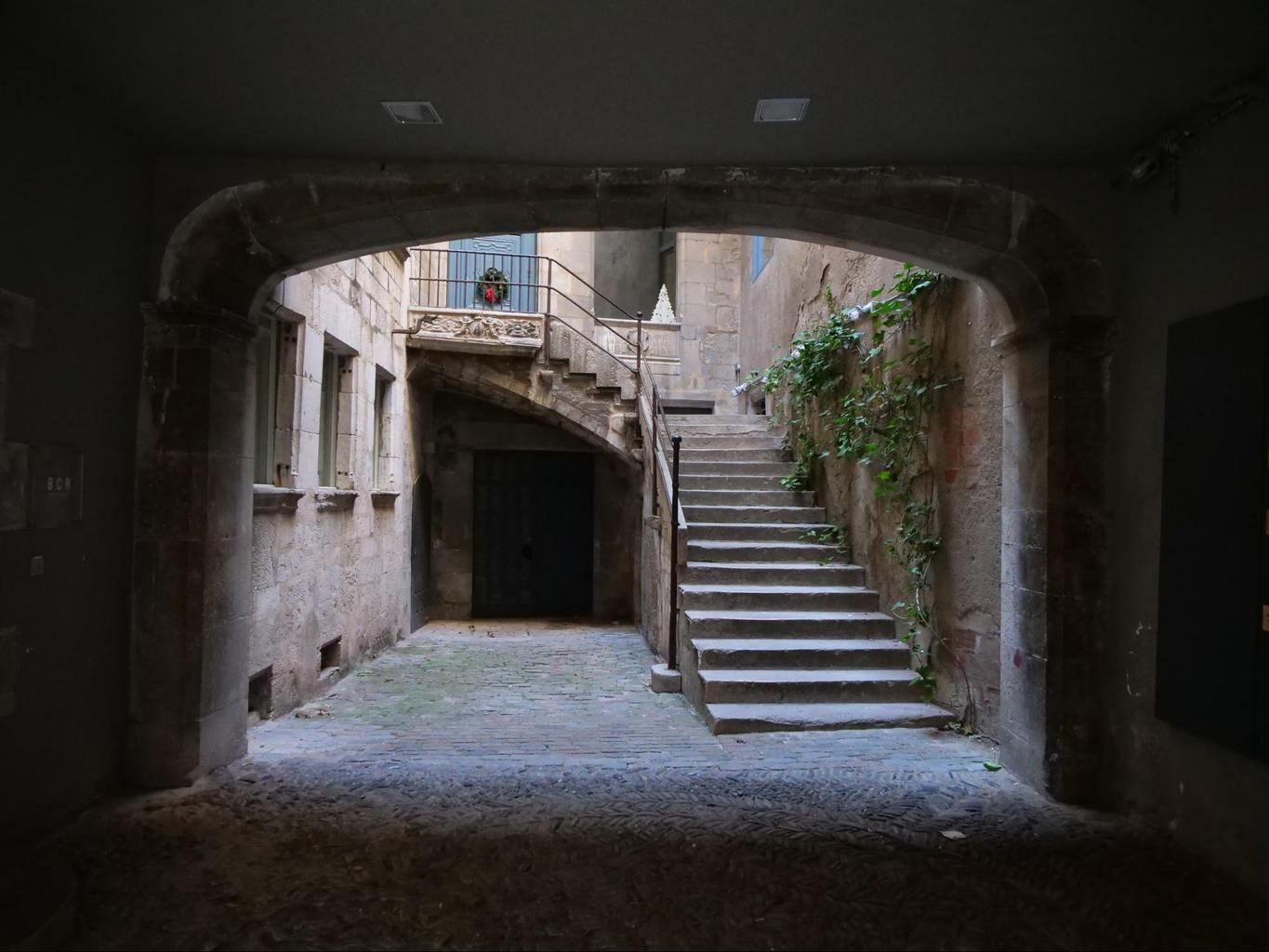 Inside one of the houses in the Jewish Quarter of Girona