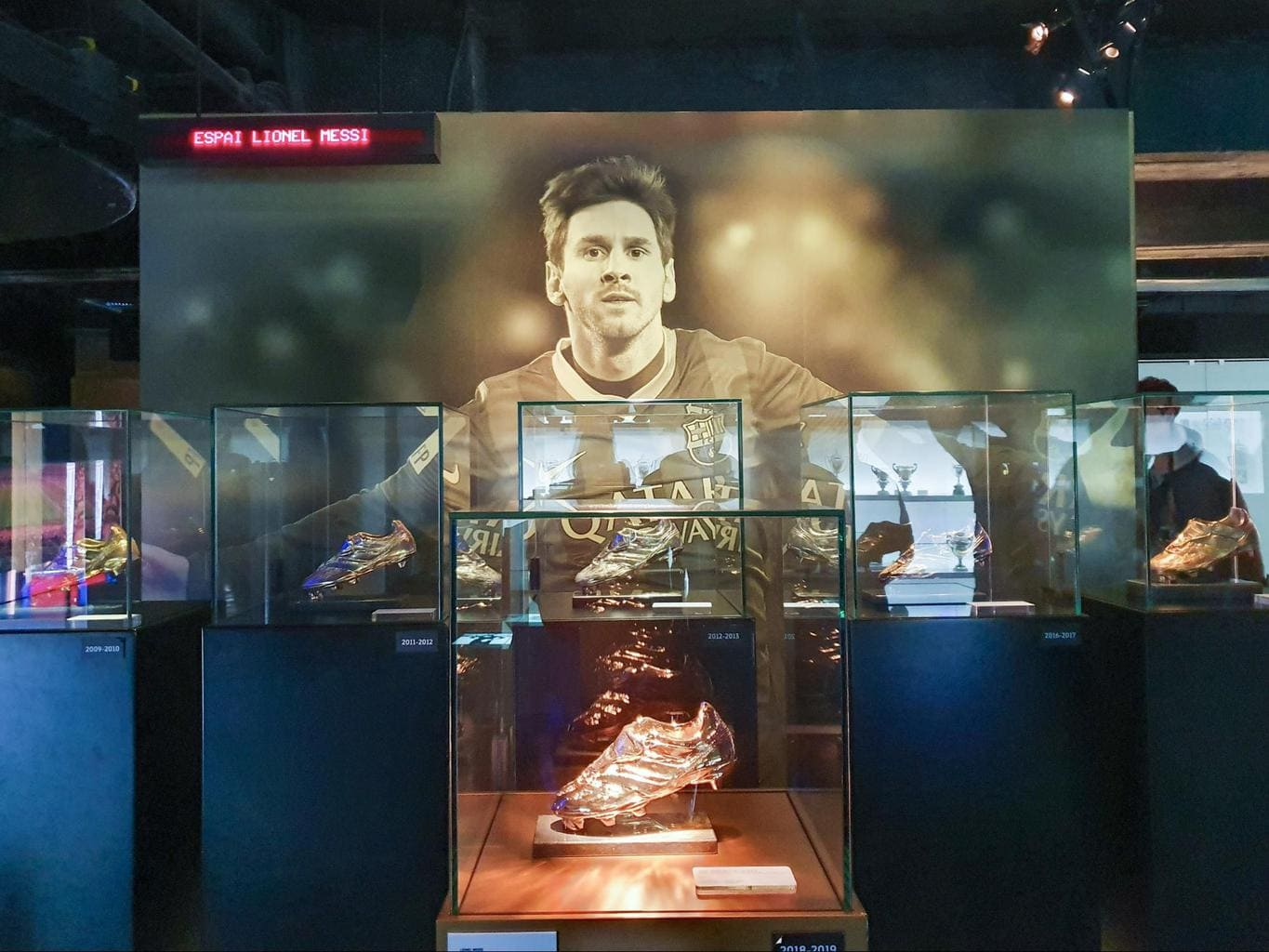 Messi's Ballon d'Or collection