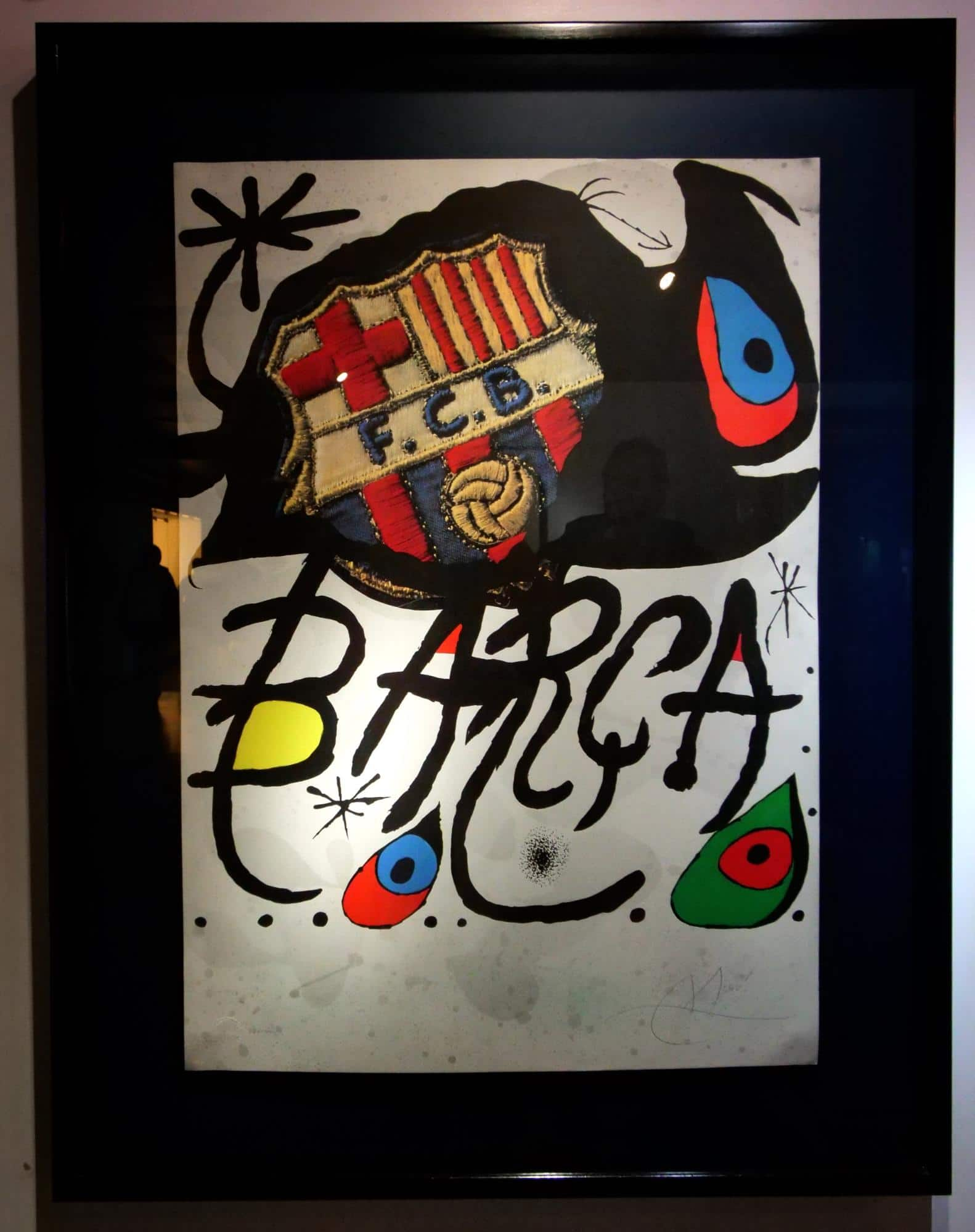 Miro's painting for FC Barcelona