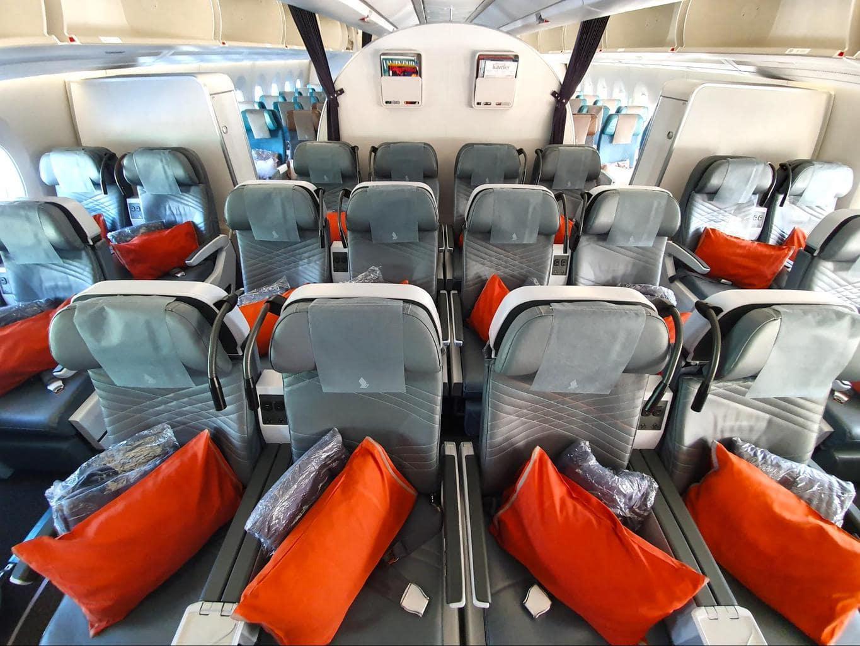 Singapore Airlines premium Economy cabin