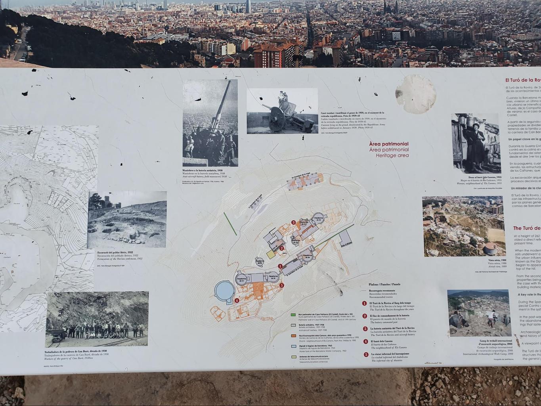 Some of the panels around Turo de la Rovira