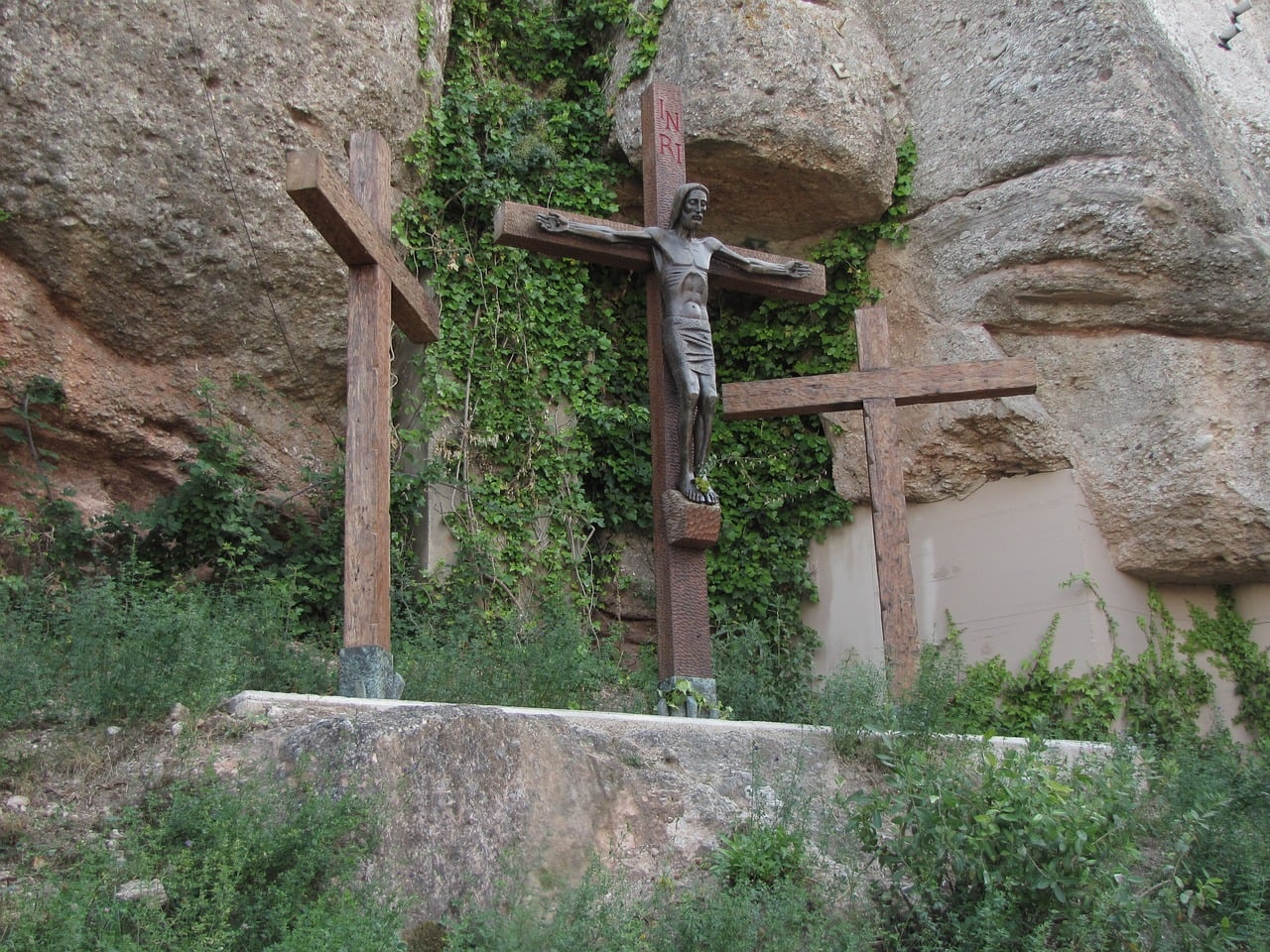 The Crucifixion at the end of the Way to the Cross path