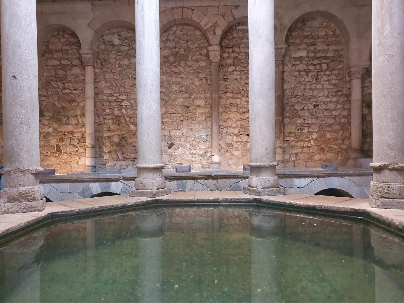 The changing room inside Girona's Arab Baths