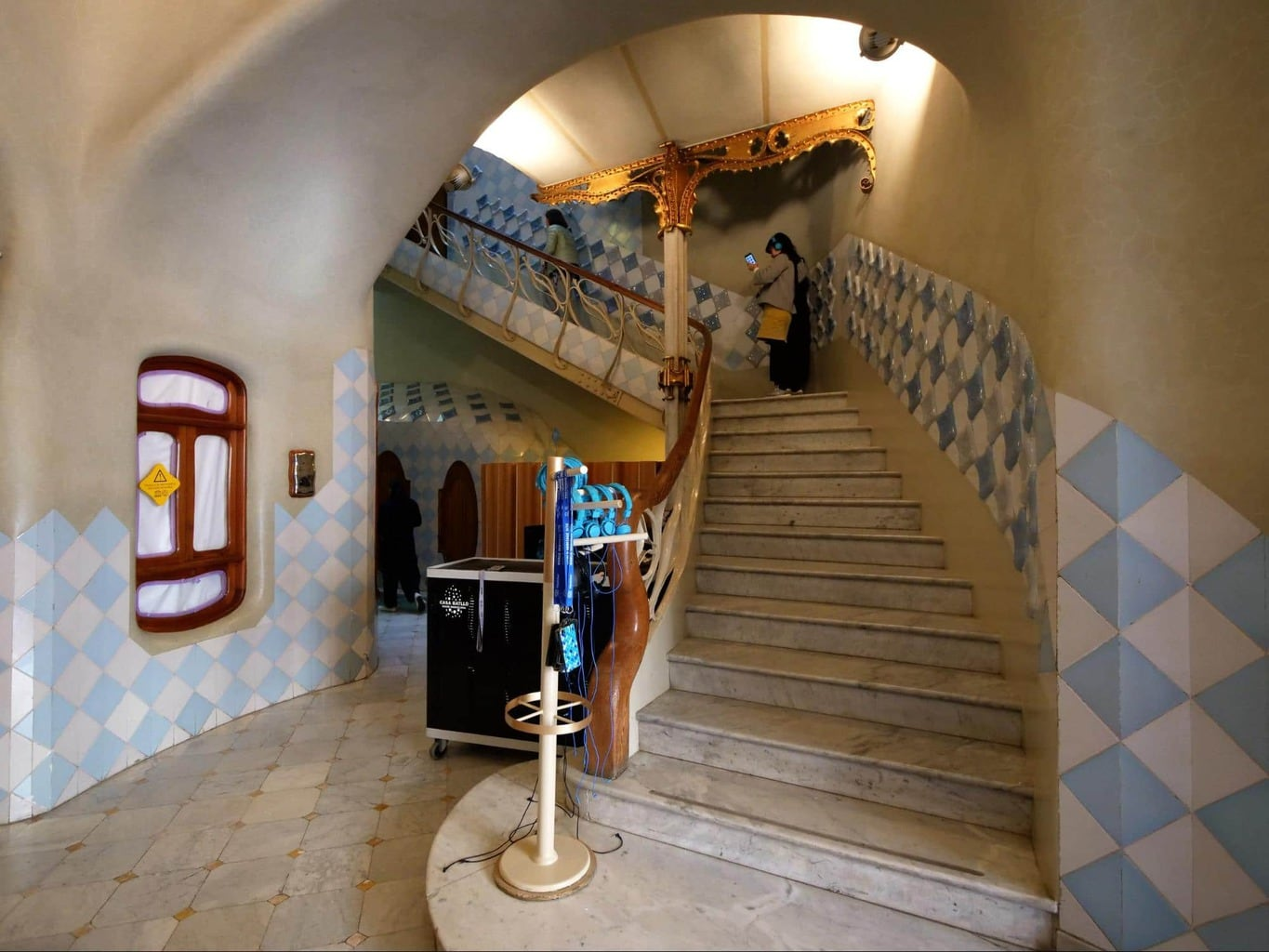 The entrance to Casa Batlló